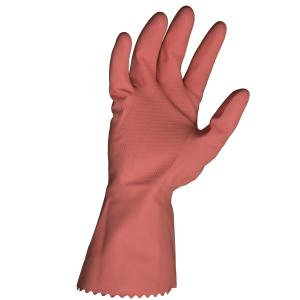 Bastion Rubber Gloves Pink Silverlined Honeycomb Grip Pair