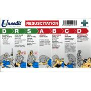 Uneedit Us3800 Cpr Chart Wallet Card