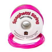 Spaghetti String Flouro Pink 60m