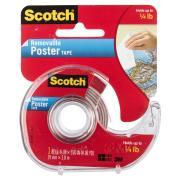 Scotch Removable Poster Tape 1.9cm X 3.8m