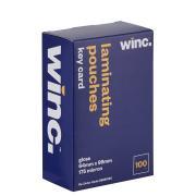 Winc Key Card 175 Micron Gloss Laminating Pouches 64 x 99mm Pack 100