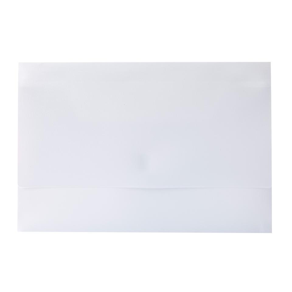 Winc Polypropylene Document Wallet Hook & Loop Foolscap Opaque White