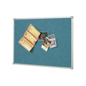 Quartet Bulletin Board Penrite Fabric 900h x 1200wmm Wedgewood Blue