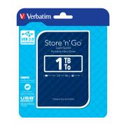 Verbatim Store 'n' Go SuperSpeed 1 TB USB 3.0 Portable Hard Drive - Blue