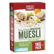 Uncle Tobys Natural Muesli 1kg