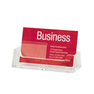 Esselte Business Card Holder 25 Card Capacity Clear