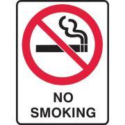 Brady 841836 Sign No Smoking Polyproylene 300X225mm Each