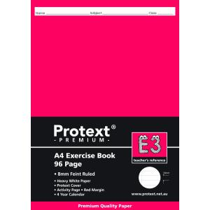 Protext Premium A4 Exercise Book Ruled 8mm 96 Pages E3