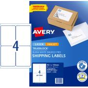 Avery Internet Shipping Labels for Inkjet Printers - 99.1 x 139mm - 40 Labels (L7169)