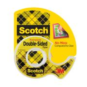Scotch 136 Double Sided Permanent Tape  12.7mm X 6.35m Clear Roll