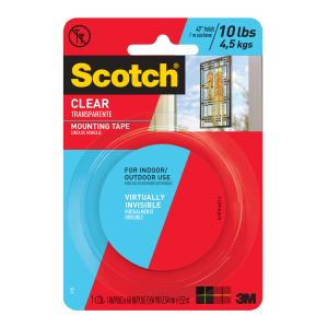 3m 4010 Scotch Mounting Tape Clear 25.4mmx1.51m