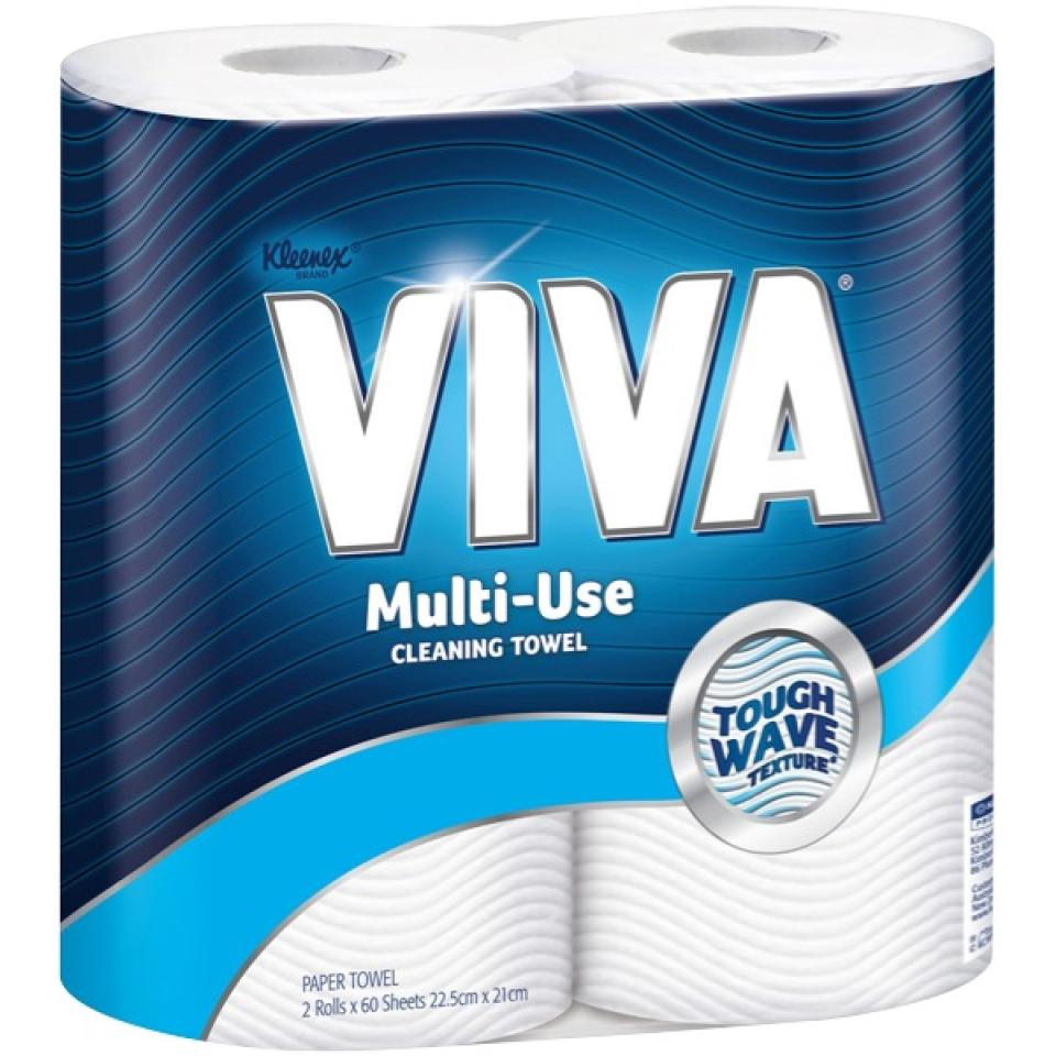 Kleenex VIVA 44301 Kitchen Towel White Twin Pack