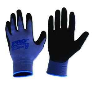 Paramount Safety Ln Gloves Black Panther Latex Palm Nylon Liner Pair