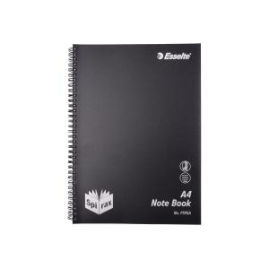 Spirax Spiral P595A Notebook A4 Side Opening Polypropylene Cover 240 Page Black