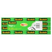 Scotch Magic 810-16 Tape Refill Rolls 19mm x 25m 16 Pack