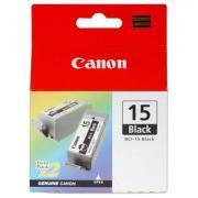 Canon BCI-15BK Black Ink Cartridge - 2-Pack