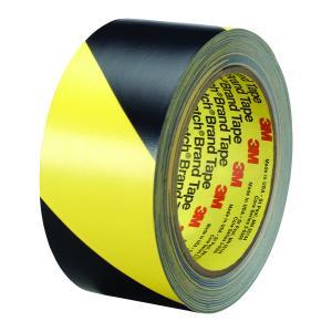 3m PVC Hazard Tape 5702 50mmx 3m Black/Yellow