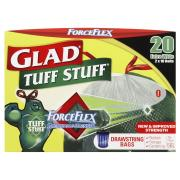 Glad Rubbish Bags D/String 70 x 90cm 56L Bin Pack 20