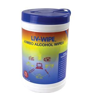 Livwipes Jumbo 70% Isopropyl Alcohol Wipes 42X14.5cm Tub 75