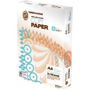 Tjindgarmi 100% Recycled A4 Copy Paper 80gsm Box 5 Reams