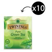 Twinings Pure Green Tea Enveloped Tea Bags Pack 10