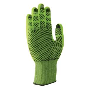 Uvex Hx60499 C500 Gloves Dry Cut 5 Hpv Polka Dot Palm Coated Lime Size 7 Pair