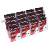 Deflecto Brochure Holder 16 Compartments Wall Mount A4 Clear