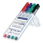 Staedtler Lumocolor Whiteboard Pen Wallet 4 Assorted Colours
