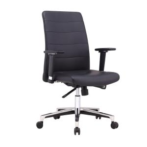 Trig Executive Chair With Fixed Arms Black