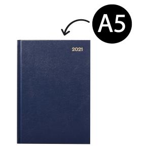 Winc 2021 Hardcover Diary A5 2 Days to Page Navy