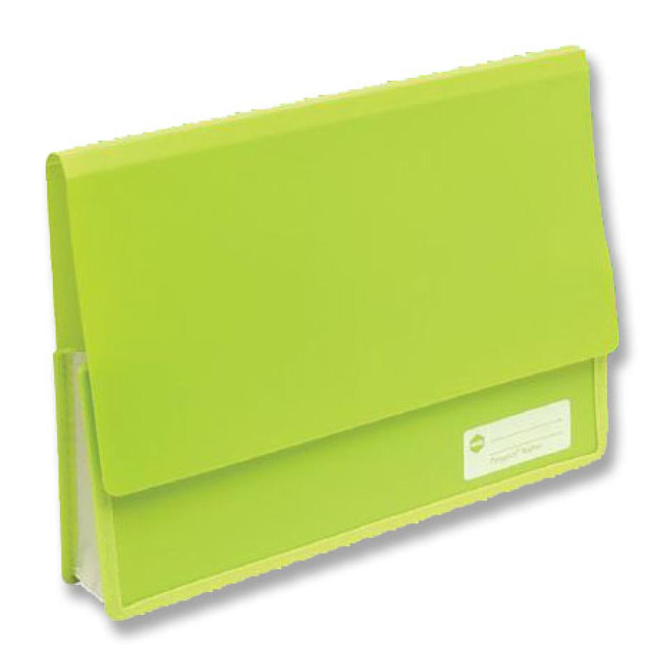 Marbig Polypick Heavy Duty Document Wallet  A4 Lime