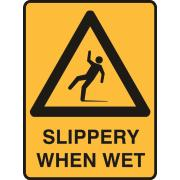 Brady 840820 Sign Slippery When Wet Polypropylene 225X300mm Each