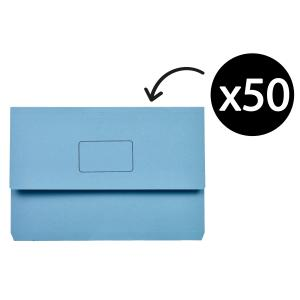 Marbig Slimpick Document Wallet Blue Box 50