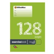 Officemax Exercise Book A4 8mm Ruled Red Margin 128 Pages