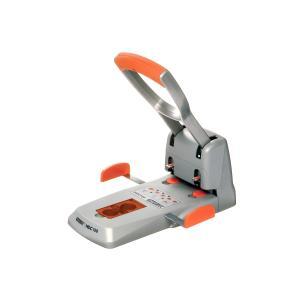 Rapid Heavy Duty 2 Hole Punch 150 Sheet Silver Orange