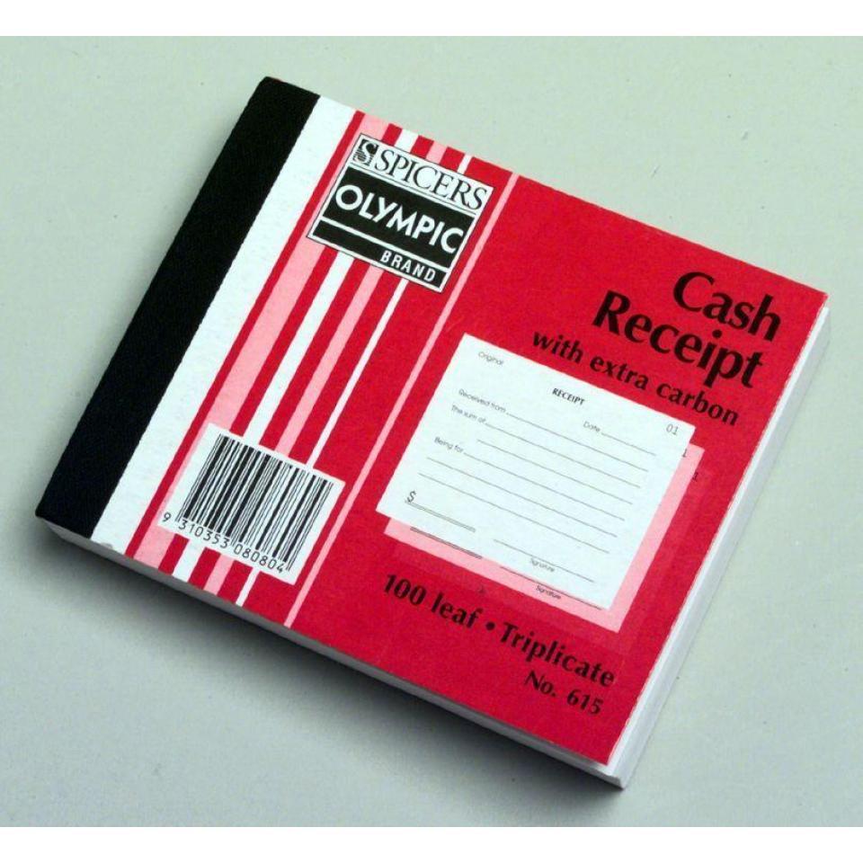 Olympic No.615 Triplicate Carbon Book Receipt 125X100mm