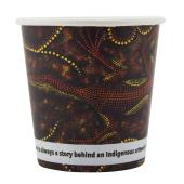 CCAB Indigenous Print Paper Cold Cup 115ml Carton 1500