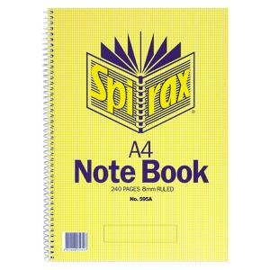 Spirax 595A Notebook A4 Side Opening 240 Pages