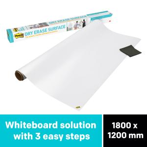 Post-it DEF6X4 Super Sticky Dry Erase Surface 1200x1800mm