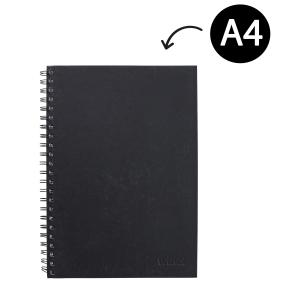 Winc Hardcover Spiral Notebook Ruled A4 Black 200 Pages