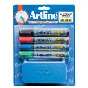 Artline Whiteboard Starter Kit With Eraser And 4 Standard Colour Markers