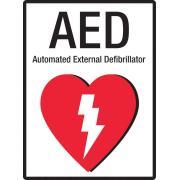 Brady 872718 Sign Automated External Defibrillator Metal 300H X 225W mm
