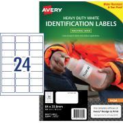 Avery White Heavy Duty Labels for Inkjet Printers - 63.5 x 33.9mm - 240 Labels (J4773)
