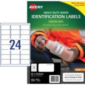 Avery White Heavy Duty Labels for Inkjet Printers - 63.5 x 33.9mm - 240 Labels (J4773)