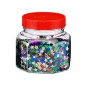 Glitter Scatters Stars Assorted Colours 100g Jar