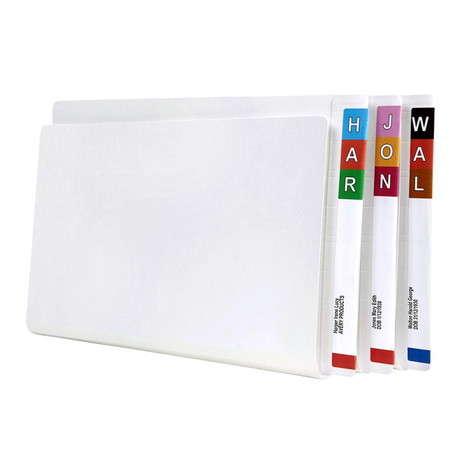 Avery Lateral File with Spiral Spring 367 x 242mm 40mm Expansion Foolscap White Pack 50