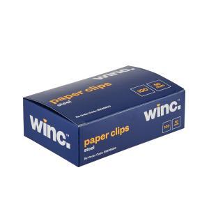 Winc Steel Paper Clip 50mm Box of 100