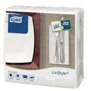 Tork Linstyle White Dinner Napkin 8F Pack 50 Carton 12