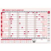 Sasco 2021 Compact Year Wall Planner 594 x 420mm