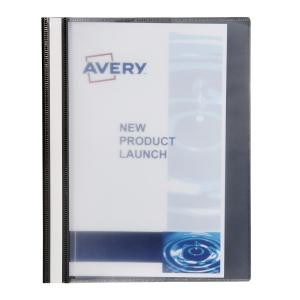 Avery Black Insert Cover Management File - Holds 50 Sheets